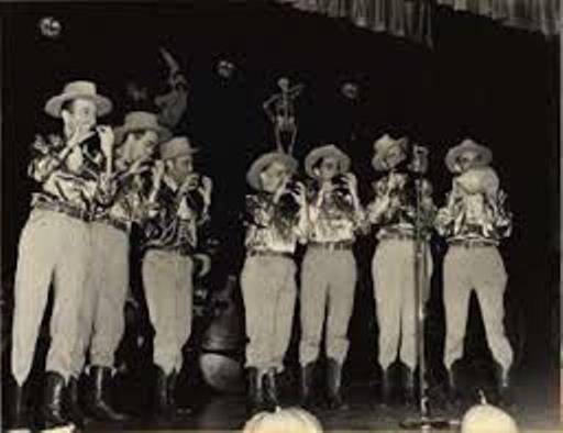 The Texas Rangers on stage