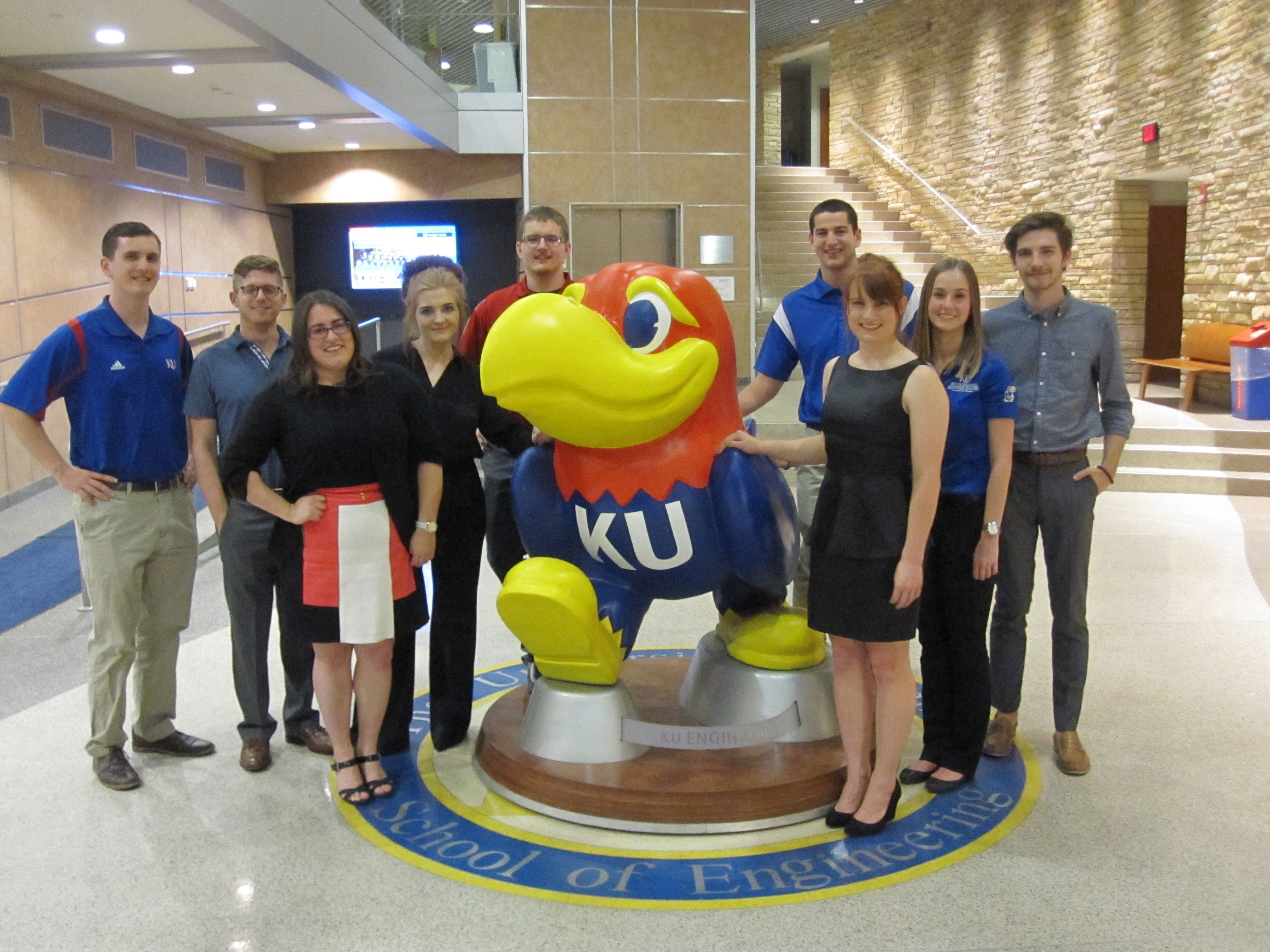 """These KU aerospace engineering students, known as the """"Spacehawks,"""" designed a next generation space station as part of a worldwide contest.  Their design has made it to the final round and soon, NASA scientists will judge whether the KU concept gets 1st, 2nd or 3rd place in the contest."""