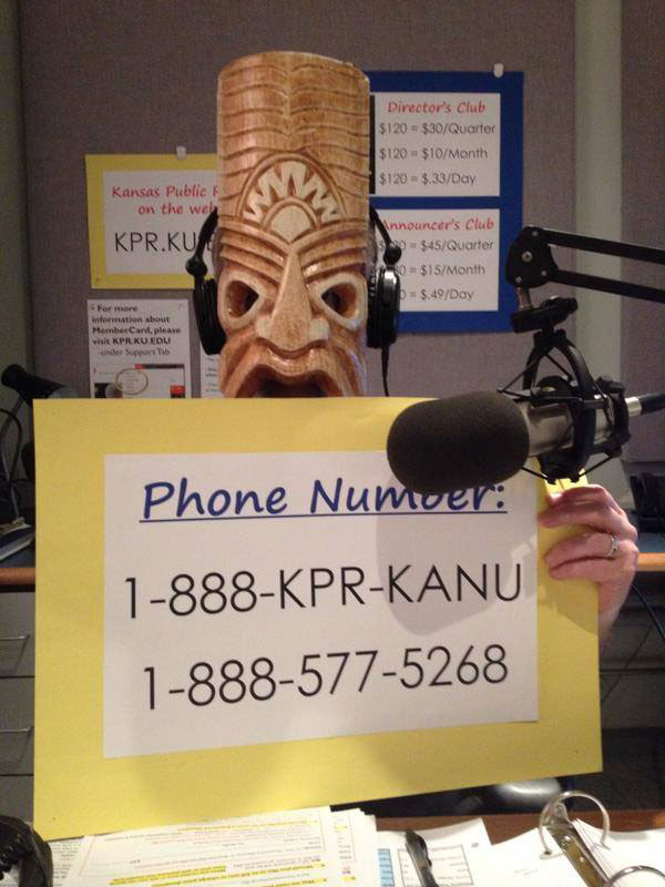The tikis come out during the semi-annual membership drives, and we often hear from listeners all over the country during RCH.