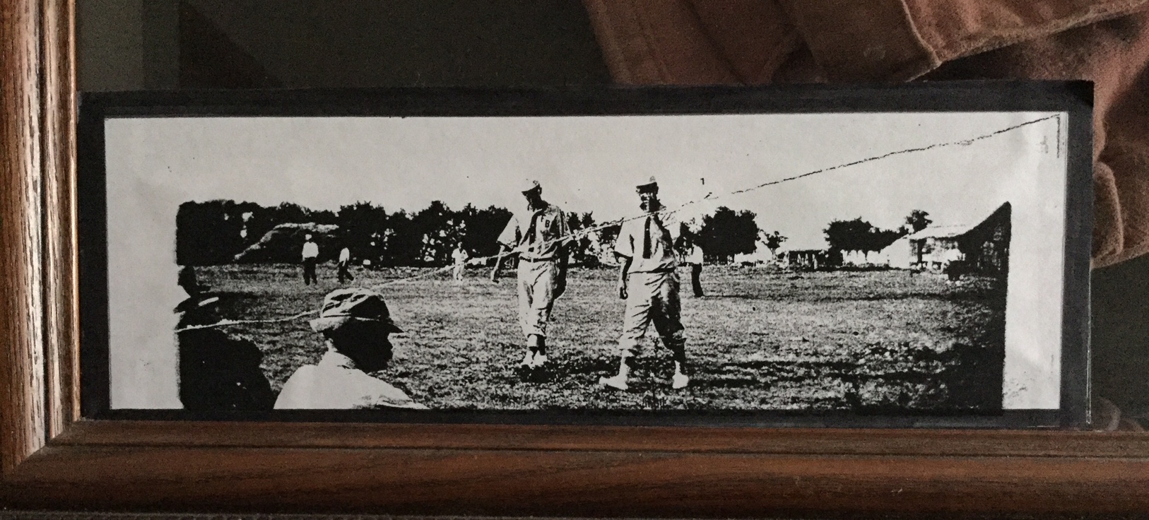 Photo of an early Kansas baseball game. (Photo by Mindy James)