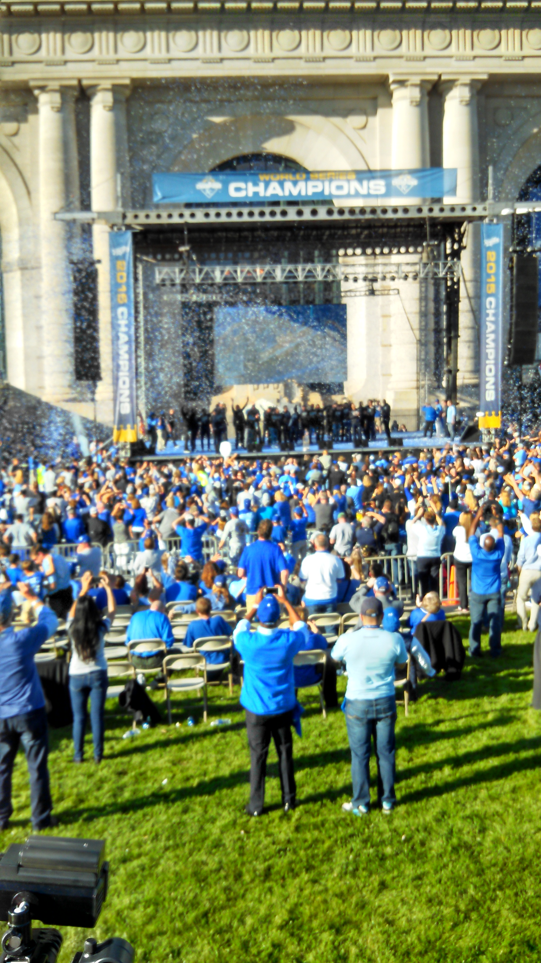 The Royals team on the rally stage. (Photo by Greg Echlin)