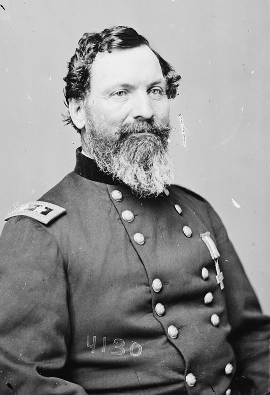 General John Sedgwick was the highest ranking Union casualty in the Civil War. [between 1855 and 1864] (Photo via Library of Congress)