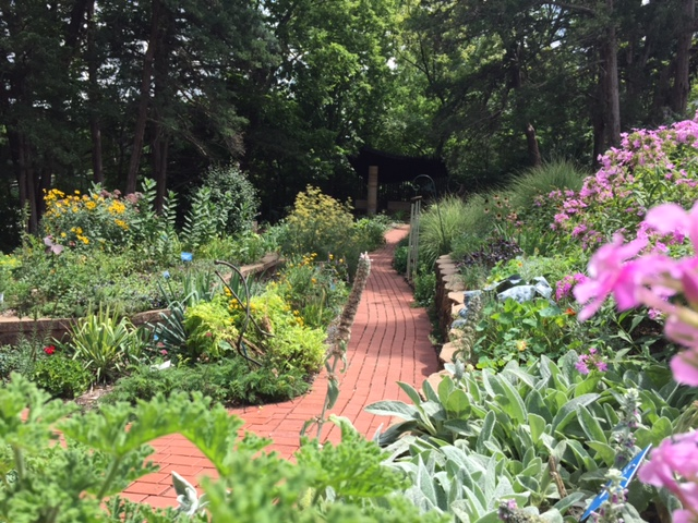 Sensory Garden at the Kansas Audio-Reader Network at the University of Kansas (next door to Kansas Public Radio). (Photo by J. Schafer)