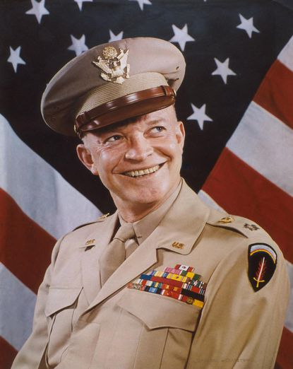 General Dwight D. Eisenhower. This is a copy of a print on display at the National Portrait Gallery of the Smithsonian Institution.