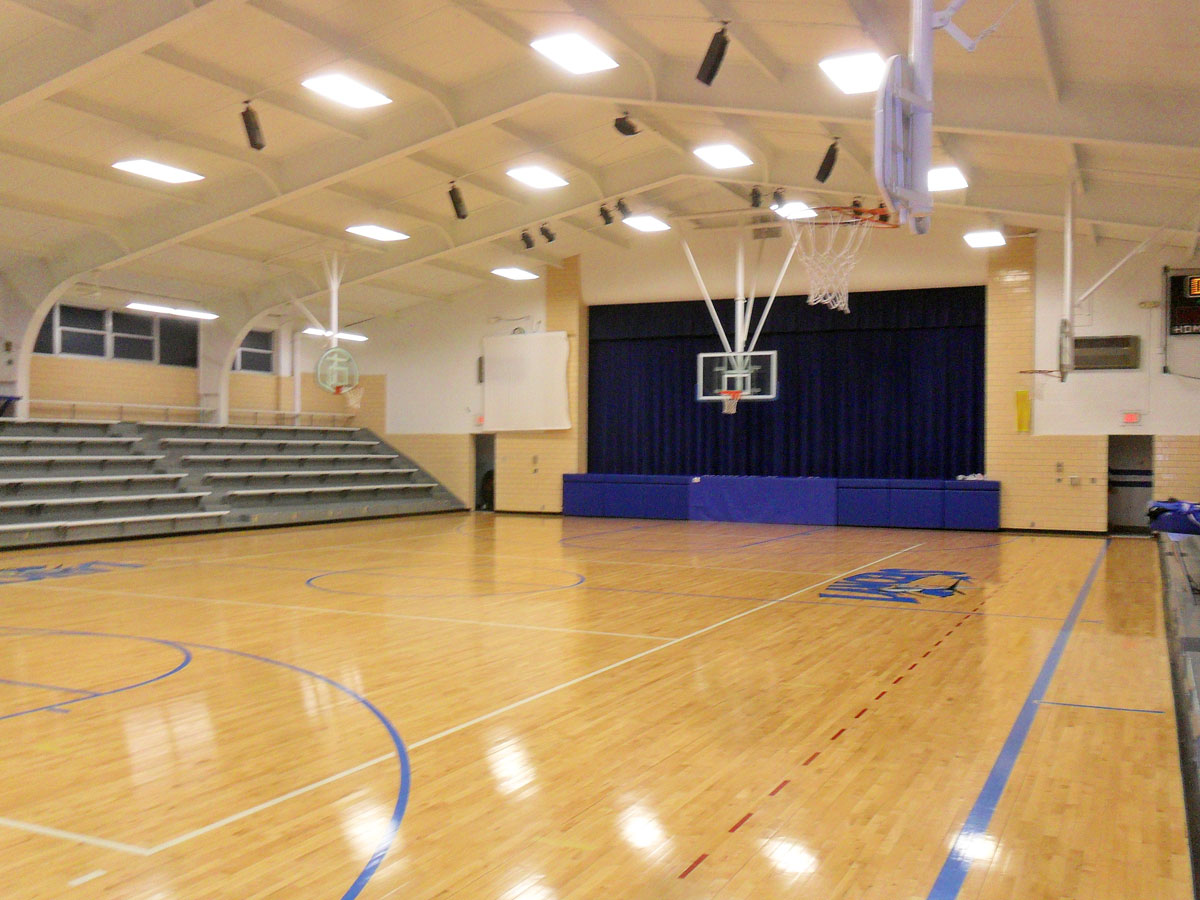 Inside the old gym where Willie Cauley-Stein played in his freshman and sophomore seasons. (Photo by Greg Echlin)