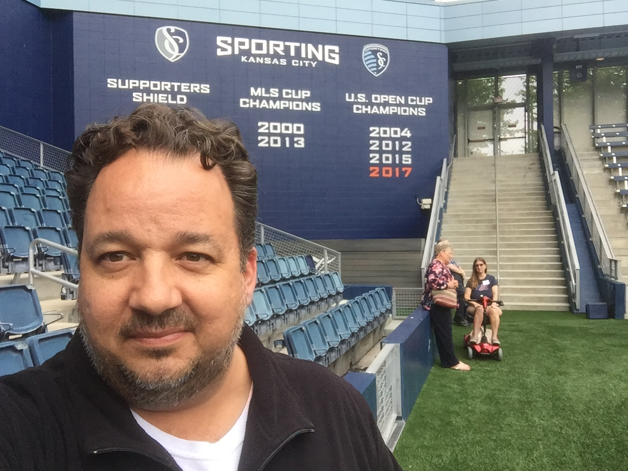 Sporting KC selfie (Photo by J. Schafer)