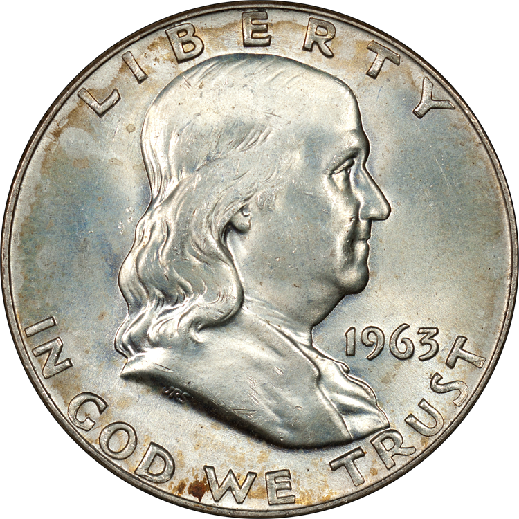 "The Franklin half dollar is a coin that was struck by the United States Mint (""Mint"") from 1948 to 1963."