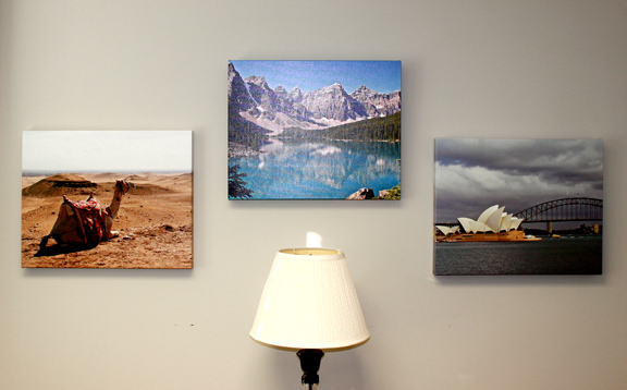 Dan enjoys photography and has had some of his travel pictures made into wall hangings.