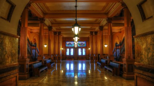 View of a corridor within the Kansas Statehouse (Photo credit: Keith Moyer)