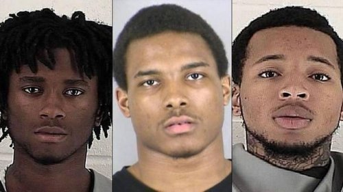 Three of the suspects charged with killing Jon Bieker of Shawnee, Kansas. From left: Hakeem W. Malik, Londro E. Patterson III, and Nicquan K. Midgyett (Image credit: Johnson County Sheriff's Office)