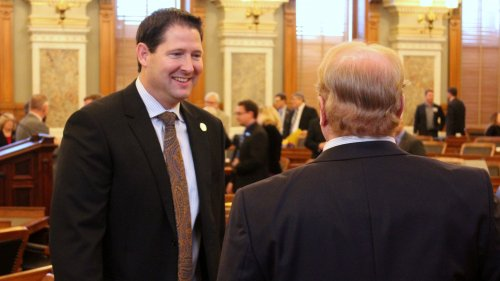Republican Speaker-elect Ron Ryckman in the House chamber Monday. (Photo by Stephen Koranda)