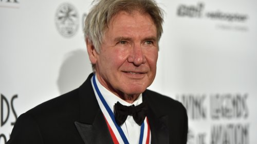 "Actor Harrison Ford attends the 12th Annual ""Living Legends of Aviation"" at The Beverly Hilton Hotel on in January."