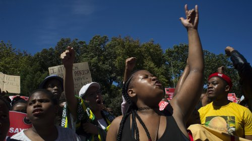 Students at the University of Cape Town are demanding the removal of the statue of British colonizer Cecil  Rhodes.