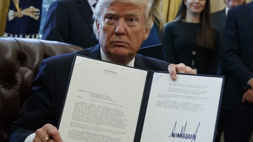 President Trump signed an executive order on Jan. 24, supporting construction of the Keystone XL pipeline. A U.S. official says the State Department is ready to give its approval.