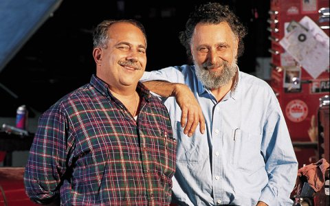 "Ray Magliozzi, left, and his brother, the late Tom Magliozzi, hosts of NPR's ""Car Talk."" (Photo Credit: Richard Howard)"