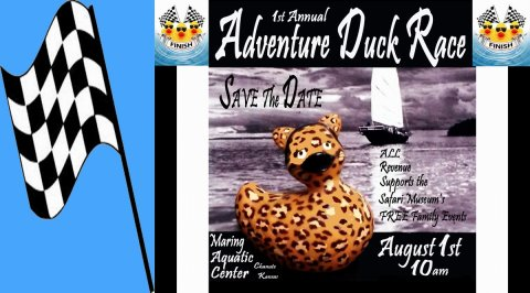 Safari Adventure Duck Race in Chanute, Kansas!