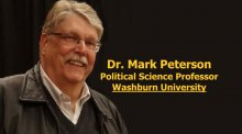 Dr. Mark Peterson is chair of the political science department at Washburn University, but we may soon get in trouble for telling you this fact.