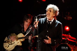 """Bob Dylan performs onstage during the 17th Annual Critics' Choice Movie Awards at The Hollywood Palladium on Jan. 12, 2012, in Los Angeles. In his next album, Dylan will """"uncover"""" Frank Sinatra."""