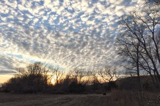 Southeast Kansas sky on a winter's day, taken near Hamilton, Kansas.  (Photo by J. Schafer)