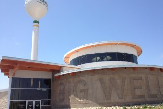 The Big Well in Greensburg, Kansas, has a giftshop / museum and, of course, the world's largest hand-dug well.  (Photo by J. Schafer)