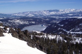 Donner Memorial State Park, including Donner Lake, near Truckee, California.  (Photo from Wikipedia)