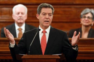 Governor Brownback will deliver his State of the State address on Tuesday, January 9. (File photo courtesy of kansas.com)