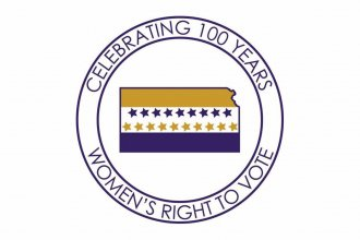 Women's Suffrage logo used with permission of LWVK