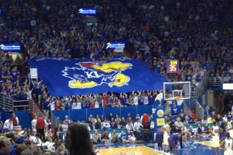 Game day at Allen Fieldhouse, home of KU Basketball (File photo from J. Schafer)