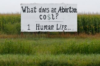 A roadside sign in rural Kansas. (Photo by Chris Neal)
