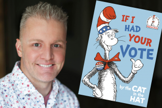 "Photo of Alastair Heim with ""If I Had Your Vote"" book image"