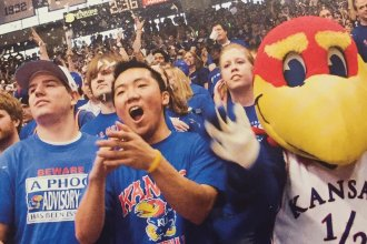 Inside Allen Fieldhouse (Photo by University of Kansas)