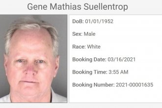 A booking photo from the Shawnee County website.