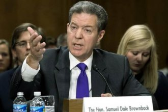 Kansas Governor Sam Brownback appeared October 4 before the Senate Foreign Relations Committee