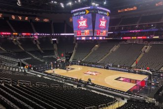 The Big 12 Tournament in Kansas City was canceled Thursday morning as a result of the coronavirus pandemic.  Later in the day, the NCAA canceled its national tournament for both men and women.  (Photo from Lawrence Journal-World)