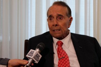 File photo of former Kansas Senator Bob Dole, speaking at an event in Topeka. (Photo by Stephen Koranda)