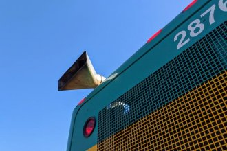 The exhaust pipe on one of Wichita's diesel buses. The city plans to replace the gas powered vehicles with all electric buses. (Photo: Brian Grimmett / Kansas News Service)