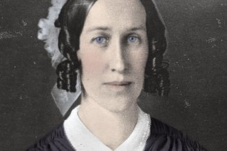 Photo of Clarina Nichols from Kansas State Historical Society