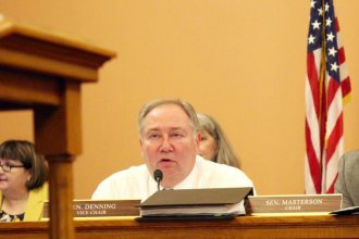 Kansas Senate Majority Leader Jim Denning says he'll propose a monthly fee on utility bills to help fund education. (Photo: Kansas News Service)