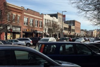 Downtown Lawrence (Photo by J. Schafer)