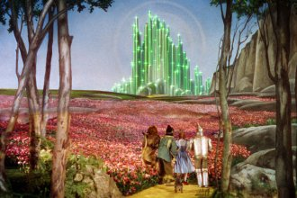 The Emerald City in the Land of Oz, from the Wizard of Oz