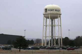 Fort Riley army base in northeast Kansas