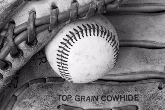 Baseball and glove (Photo by J. Schafer)