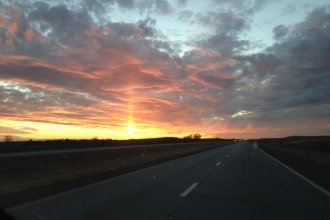Highway to Here, Kansas - hometown of Commentator William Jennings Bryan Oleander. (Photo by Claude Anderson)