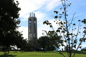 Campanile on the University of Kansas campus in Lawrence (Photo by J. Schafer)