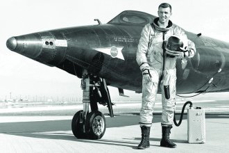 All American Astronaut Joe Engle grew up in the small town of Chapman, Kansas. The retired spaceman will join fellow former astronaut Steve Hawley in October to serve as Grand Marshals at KU's homecoming parade. (Photo from NASA)
