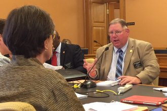 "Republican Representative Dan Hawkins is one of the legislators negotiating a bill that would require KanCare providers to use a ""step therapy"" program for prescription drugs. (Photo by Jim McLean)"