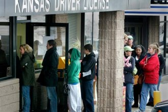 The Kansas DMV in Mission, Kansas (photo credit: The Kansas City Star)