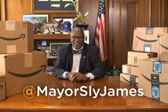 Last week, Kansas City Mayor Sly James unveiled a quirky campaign to attract Amazon's attention by reviewing products with a Kansas City twist. On Thursday, the city submitted its official proposal for the retailer's second headquarters.