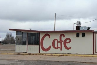 This cafe in Kinsley, in southwest Kansas, sits in one of the parts of the state that is getting lonelier. Governor Laura Kelly says she wants to find solutions for struggling rural areas.  (Photo by Celia Llopis-Jepsen / Kansas News Service)