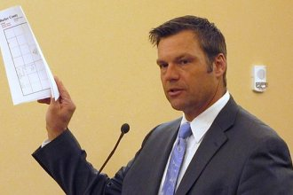 Kansas Secretary of State Kris Kobach wants different identification requirements for state and federal elections.